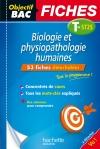 Objectif Bac Fiches détachables Biologie et physiopathologie humaines 1ère et Term ST2S