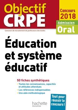 CRPE en fiches : Éducation et système éducatif 2018