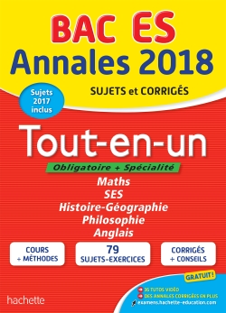 Annales Bac 2018 Tout-en-un Term ES