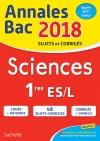 Annales Bac 2018  - Sciences 1ères L/ES