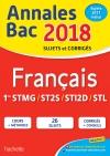 Annales Bac 2018 Français 1ères Techno