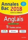 Annales Bac 2018 Anglais Term Toutes Séries
