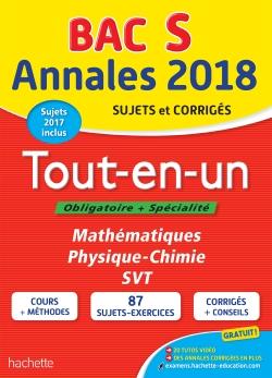 Annales Bac 2018 Le Tout-En-Un Term S