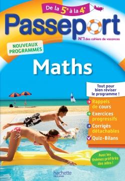Passeport - Maths de la 5e à la 4e