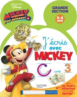 Ardoise J'écris avec Mickey Top départ GS