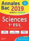 Annales Bac 2019 Sciences 1ères ES/L