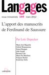 L'apport des manuscrits de Fer            dinand de Saussure