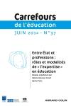Carrefours de l'éducation Nº37 1/2014
