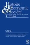 Histoire, économie & société (1/2014)