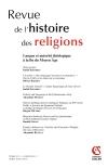 Revue de l'histoire des religions - Tome 231 (2/2014)