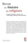 Revue de l'histoire des religions - Tome 231 (4/2014)