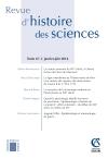 Revue d'histoire des sciences - Tome 67 (1/2014)