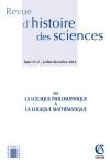 Revue d'histoire des sciences - Tome 67 (2/2014)