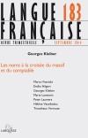 Langue Française nº 183 (3/2014)