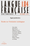 Langue française nº 184 (4/2014) Etudes sur l'évaluation axiologique