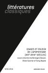 Littératures classiques Nº84 (2/2014)