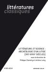Littératures Classiques Nº85 (3/2014)