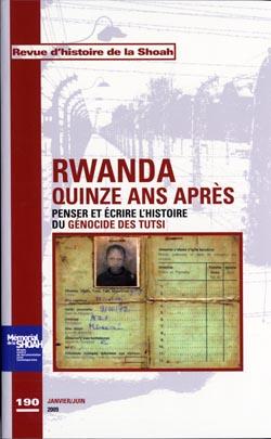 Revue Histoire Shoah nº190 Rwanda, quinze ans après - © Jean Hiernaux Institut royal des sciences naturelles de Belgique, 1954