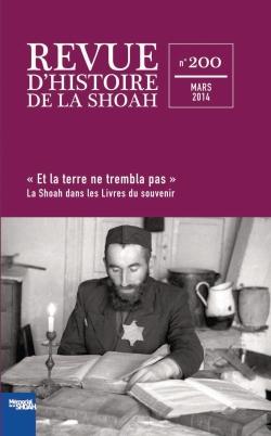 Revue d'histoire de la shoah nº200 – La Shoah dans les livres du souvenir -