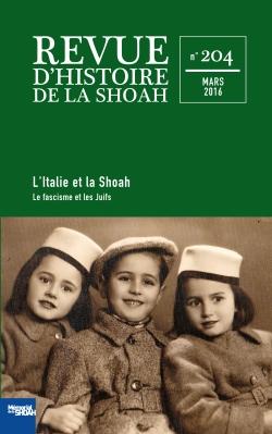 Revue d'histoire de la shoah nº204 -