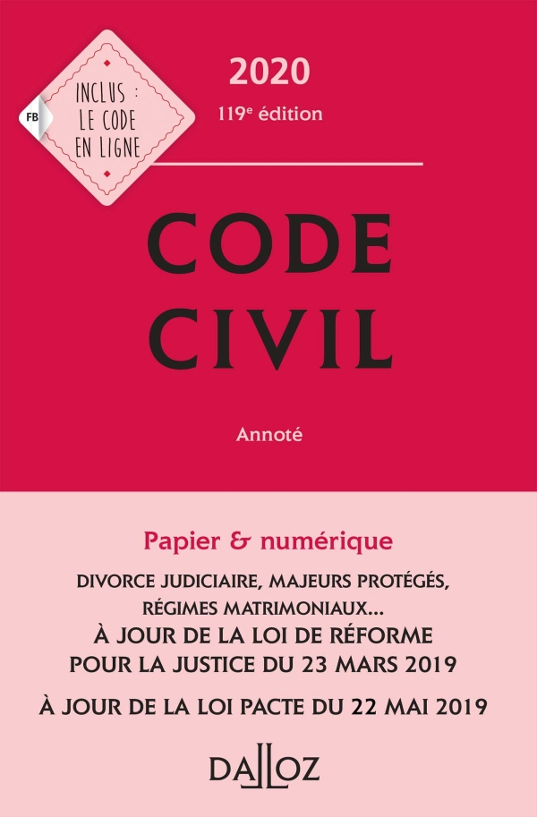 Code civil 2020, annot? - 119e ?d.