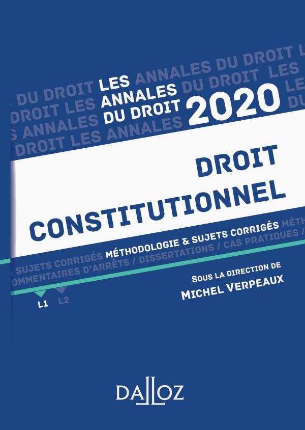 Annales Droit constitutionnel 2020