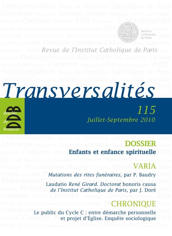 Transversalités, Nº 115, Juillet-sept