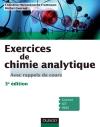 Exercices de Chimie analytique : Avec rappels de cours