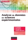 Analyse de donnes en sciences exprimentales : Cours et exercices corrigs