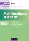 Mathématiques tout-en-un MPSI : Conforme au nouveau programme