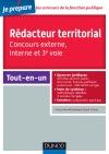 Concours Rédacteur territorial : Tout-en-un