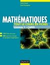 Mathématiques - Tout le cours en fiches - Licence 1 - Capes : 110 fiches de cours, 200 exercices et exemples d'application