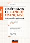 Les épreuves de langue française - Admissibilité et admission : CAPES / CAFEP Lettres