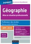 Géographie. Professeur des écoles. Oral admission. CRPE 2015 : CRPE 2015