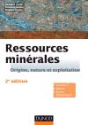 Ressources minérales - 2e édition : Cours et exercices corrigés