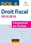 DCG 4 - Droit fiscal - 2015/2016 : L'essentiel en fiches