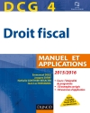 DCG 4 - Droit fiscal 2015/2016 : Manuel et Applications