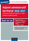 Adjoint administratif territorial - Concours et Examen professionel : Tout-en-un