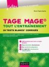 TAGE MAGE® : tout l'entraînement : 20 tests blancs corrigés