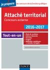 Attaché territorial 2016-2017 - Concours externe : Catégorie A