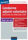 Concours Gendarme adjoint volontaire : Epreuves de sélection GAV - Catégorie C
