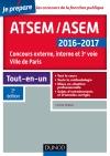 ATSEM/ASEM 2016-2017 : Concours externe, interne et 3e voie, Ville de Paris