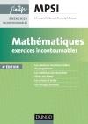 Mathématiques Exercices incontournables MPSI