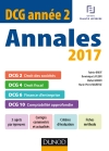 DCG Année 2 - Annales 2017 : DCG 2 - DCG 4 - DCG 6 - DCG 10