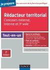 Rédacteur territorial - Concours externe, interne et 3e voie : Tout-en-un