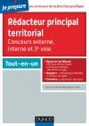 Rédacteur principal territorial - Concours externe, interne et 3e voie : Tout-en-un