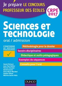 Sciences et technologie - Professeur des écoles  Oral, admission - CRPE 2017