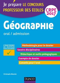 Géographie - Professeur des écoles - oral / admission  CRPE 2017