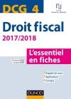 DCG 4 - Droit fiscal - 2017/2018 : L'essentiel en fiches