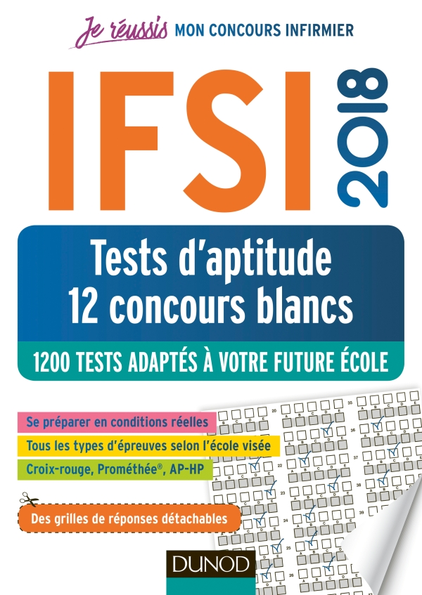 IFSI 2018 Tests d'aptitude - 12 concours blancs